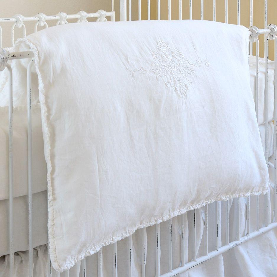 Pom Pom At Home Crib Bedding Classica Organic Linen Crib Duvet