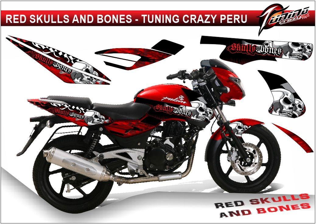 tuning motos pulsar 200 180 150 monster rockstar stickers ...
