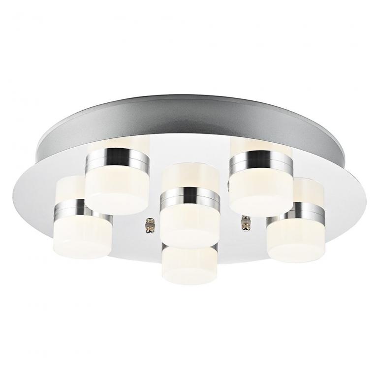 Large Chrome Led Bathroom Ceiling Light Fitting With Opal Cool Bathroom Ceiling Light Review