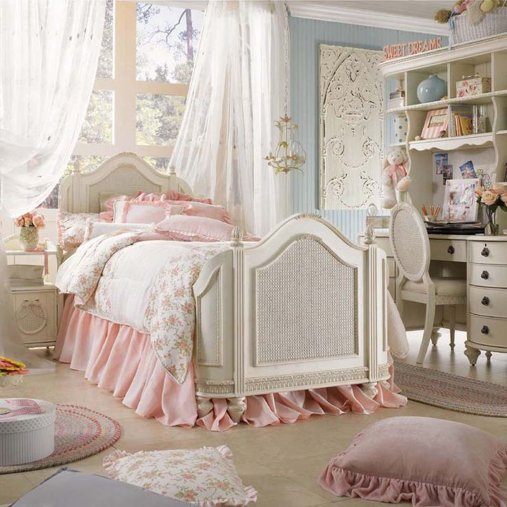 17 Awesome Rustic-Romantic Girls\u0027 Room Ideas Bedroom decor