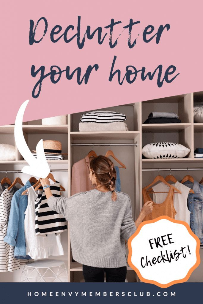 How To Declutter Your Home FREE Checklist | HomeEnvy ...