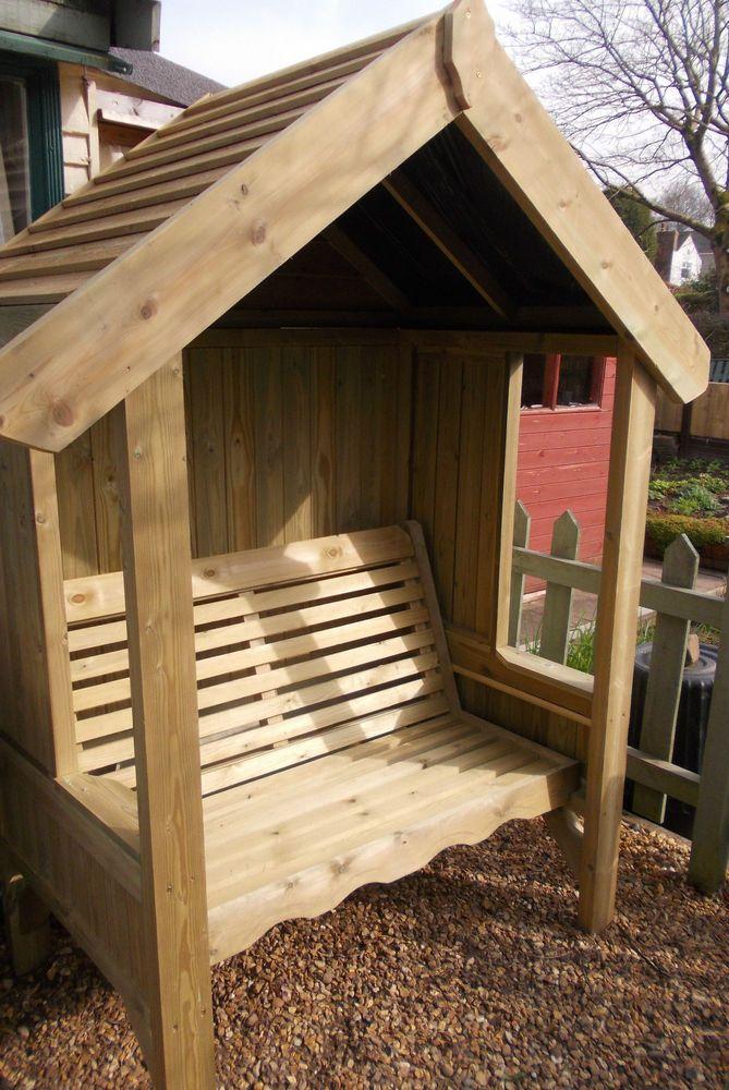 Garden Arbour Seat Pergola Trellis Corner Wood Arch Bench