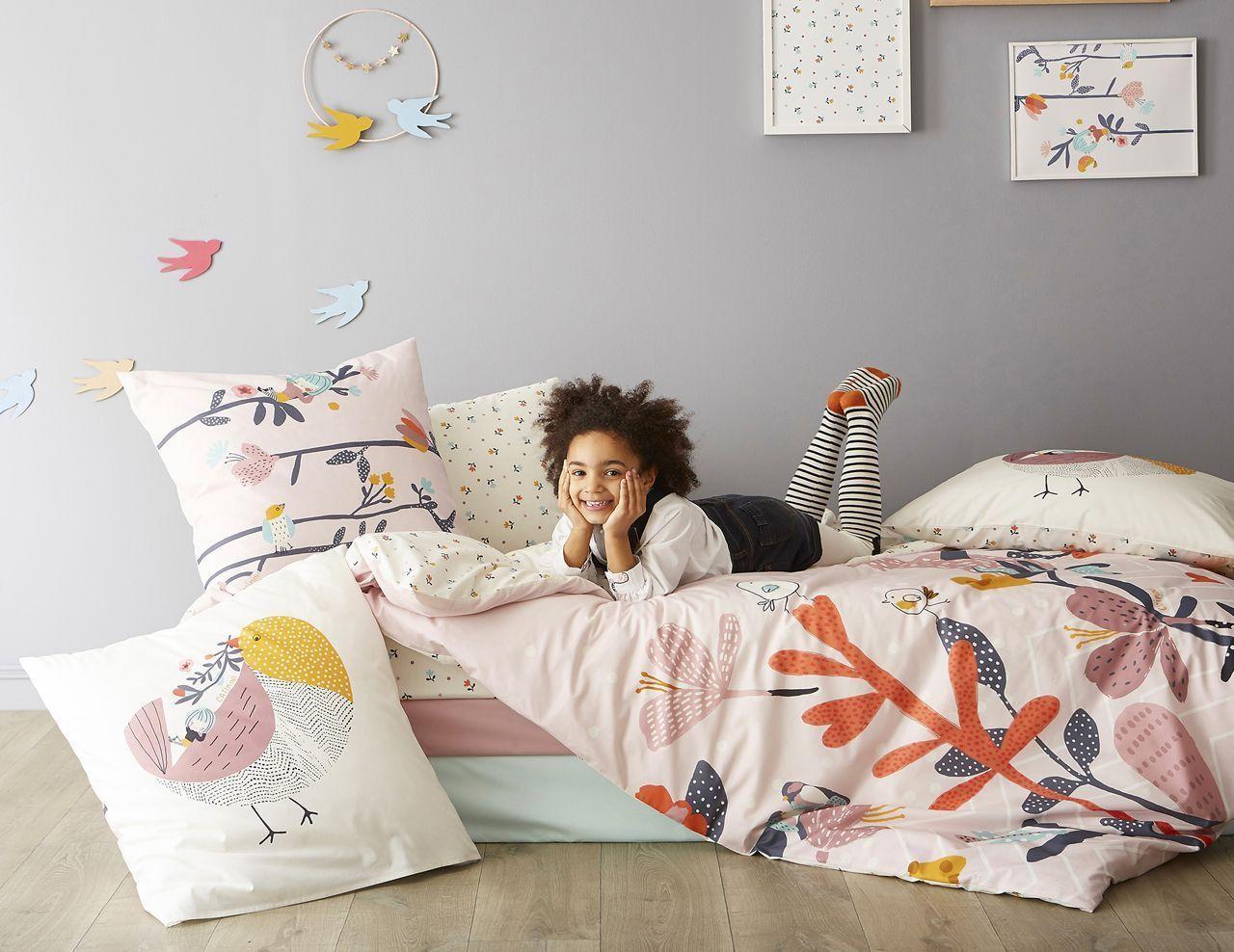 taie d 39 oreiller l 39 oiseau chanteur motifs nature pastel coton 50x75 oreiller chanteur et pastel. Black Bedroom Furniture Sets. Home Design Ideas