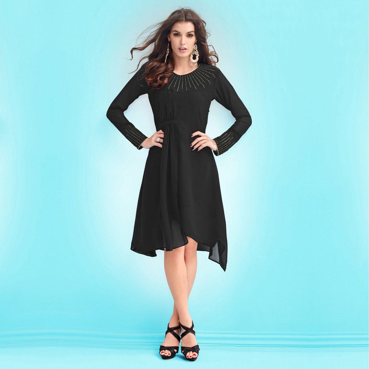 9f431f9d Black Party Dress Online India | Saddha