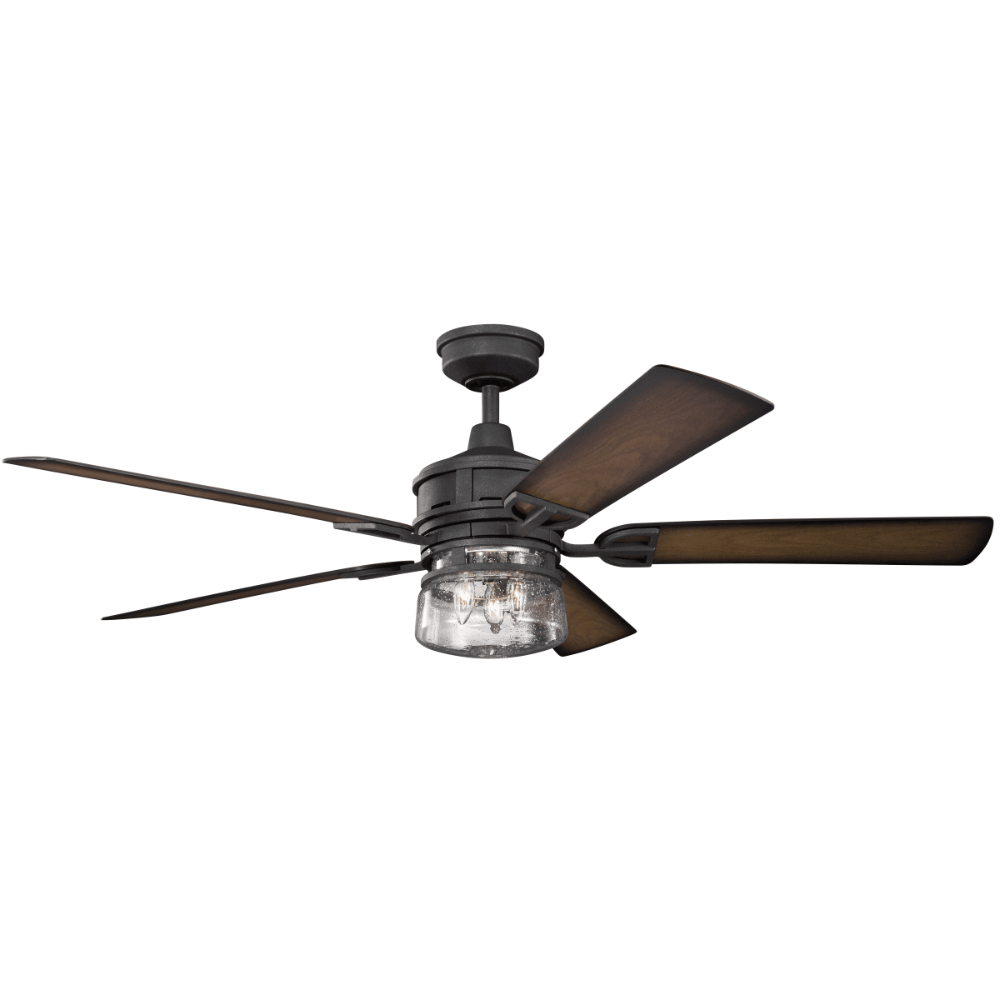 Outdoor Ceiling Fan With Light And Remote Black