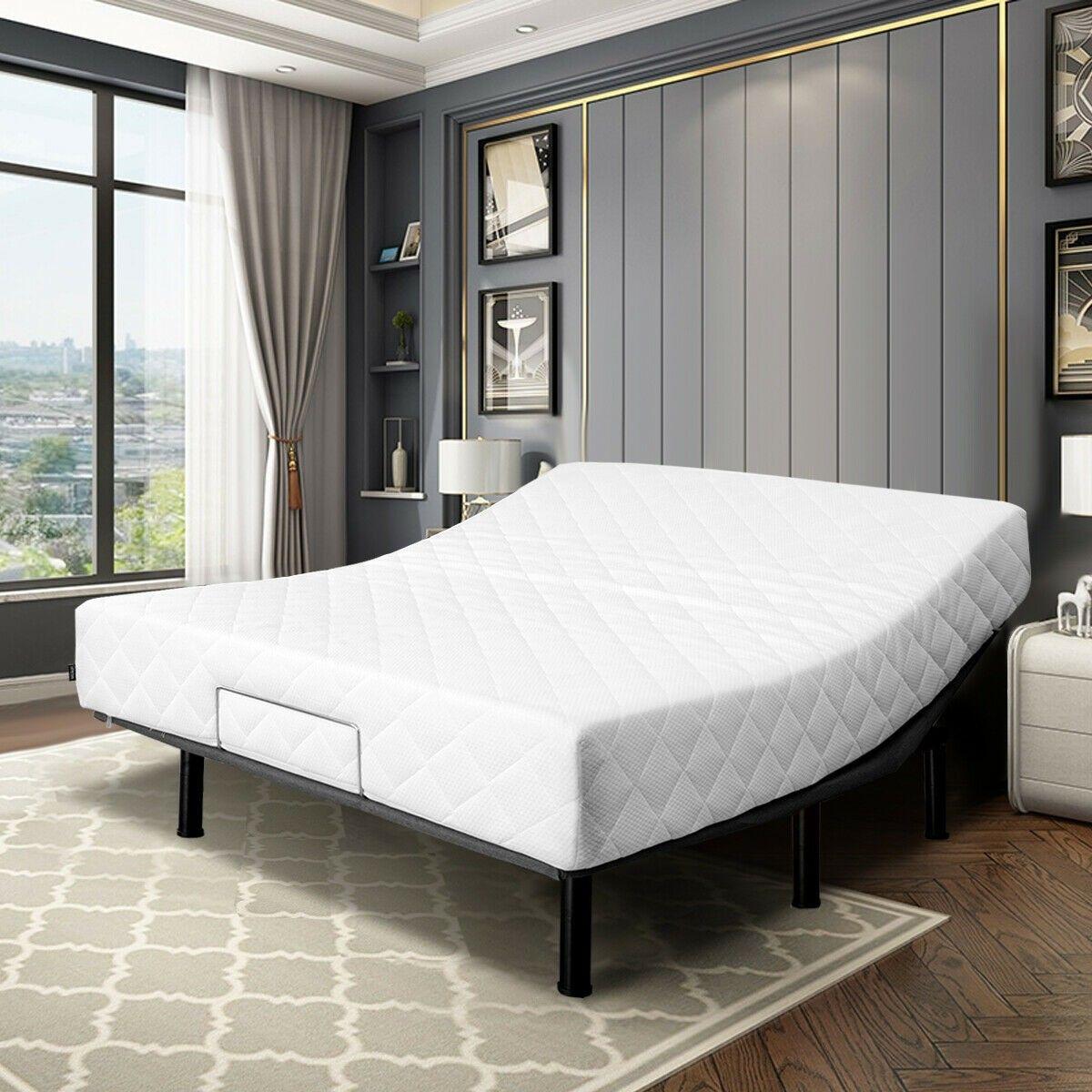 Queen Size Steel Frame Remote Adjustable Bed Base Adjustable
