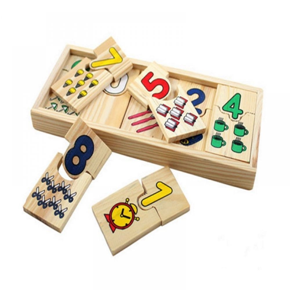 Montessori Math Puzzle Teaching Kids Logarithmic Matching FREE Shipping