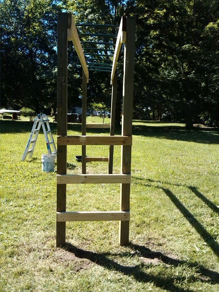 How to build monkey bars my 100 backyard design diy