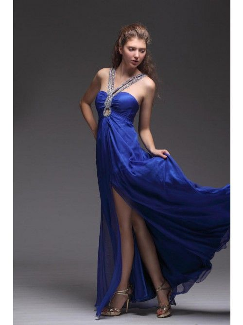 CHIFFON A LINE EVENING DRESS | Discount party dresses | Pinterest