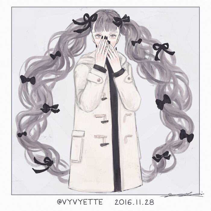 "17 Likes, 1 Comments - ツツイ モモエ(Tsutsui Momoe) (@vyvyette.ipl) on Instagram: ""2016.11.28 #絵 #イラスト #イラストレーション #illustration #artwork #art #girl #original"""