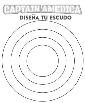 dibujos para colorear capitan america escudo | Super Heroes Marvel ...