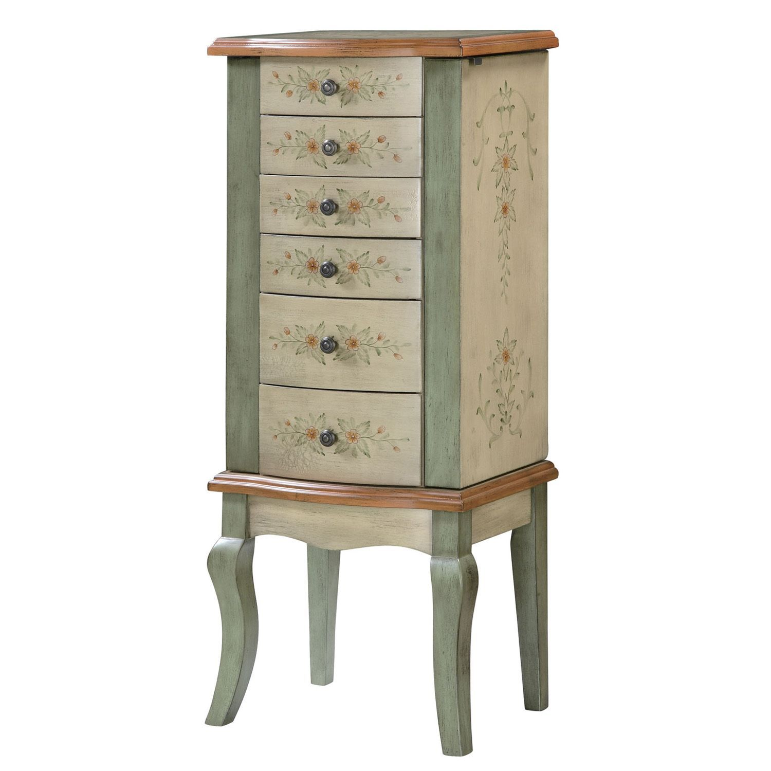 English Garden Hand Painted Jewelry Armoire English gardens
