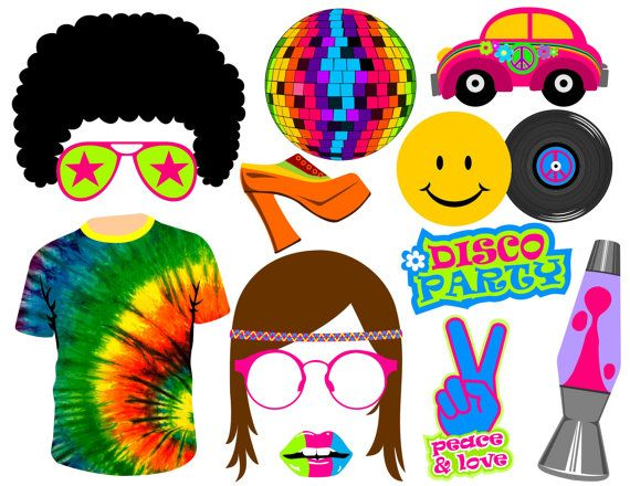 70/'s Disco Photo Booth Props Glasses and Custom Talk Bubble Hat 70/'s Disco with Mustache Bow Tie Disco Prom Theme Party 20 pc.