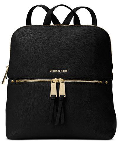 9f38fdda09e0 MICHAEL Michael Kors Rhea Medium Slim Backpack - Handbags & Accessories -  Macy's