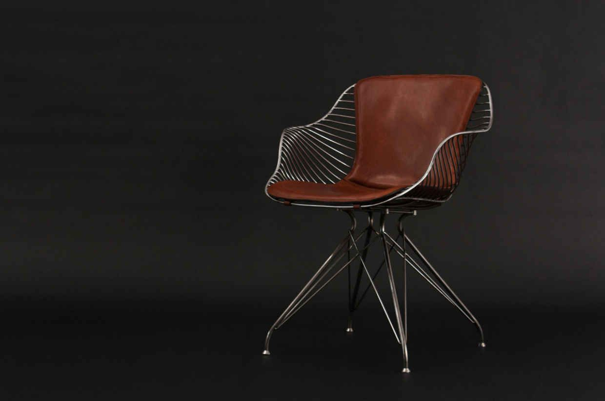 here's how a luxury furniture company builds their wire chairs