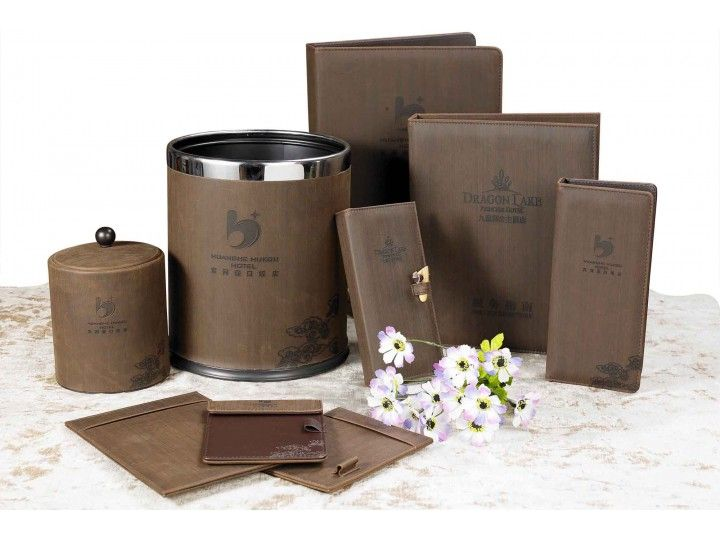 hotel room leather products set