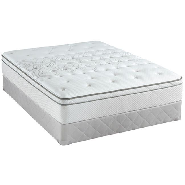 Sealy Posturepedic Classic Crystal City 11.5-inch California King-size Plush Pillow Top Mattress Set
