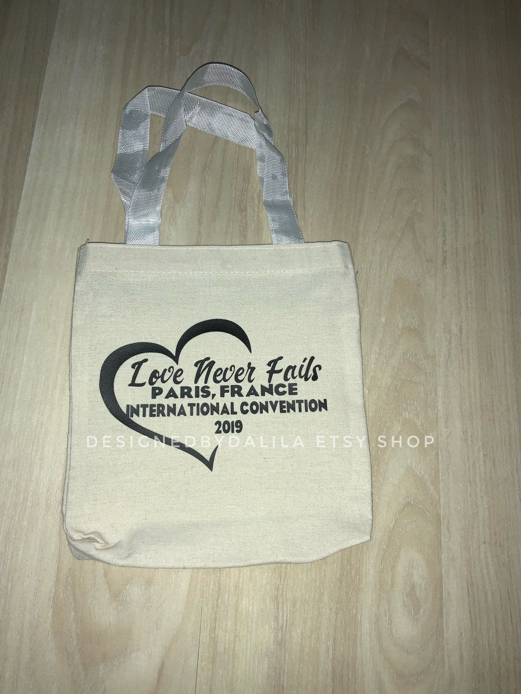 8x8 Small tote bag custom to your JW international