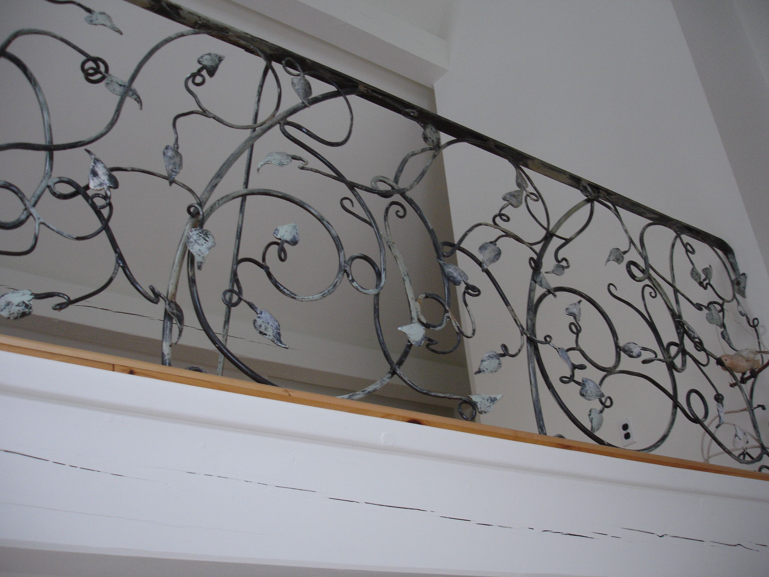 Hand Forged Leaves And Scrolls On Railing Balcony By Andrew Leck