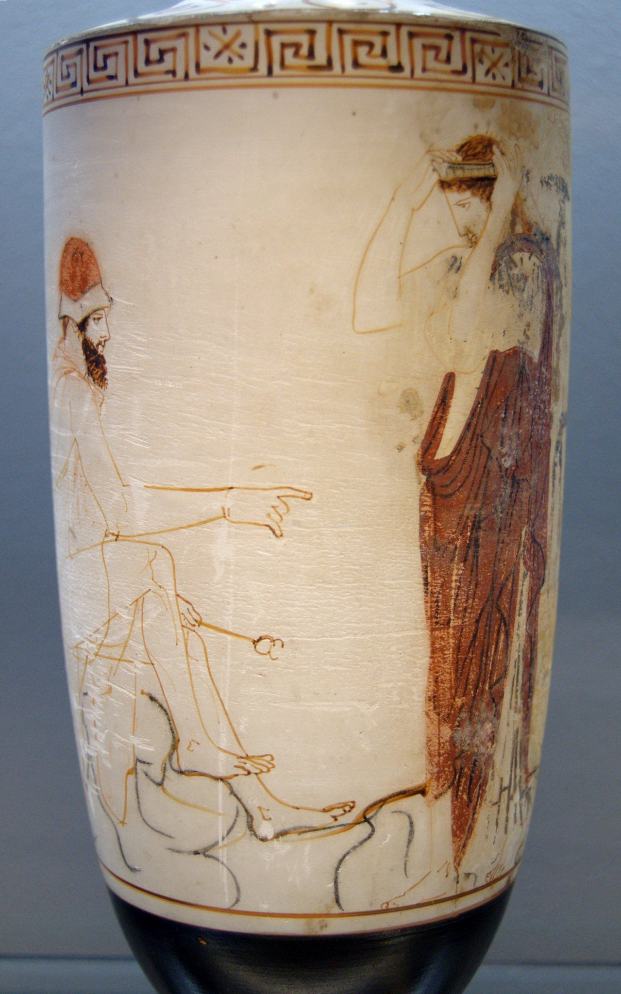 Hermes Psychopompos Preparing To Lead A Dead Soul To Underworld Attic Lekythos 450 Bc With Images Greek Underworld Ancient Greek Pottery Ancient Greek Art