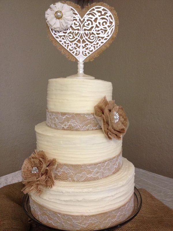 Burlap Lace Wedding Cake Http Www Deerpearlflowers Com Rustic Country Burlap Wedding Cakes Burlap Wedding Cake Burlap Lace Wedding Cake Wedding Cake Rustic