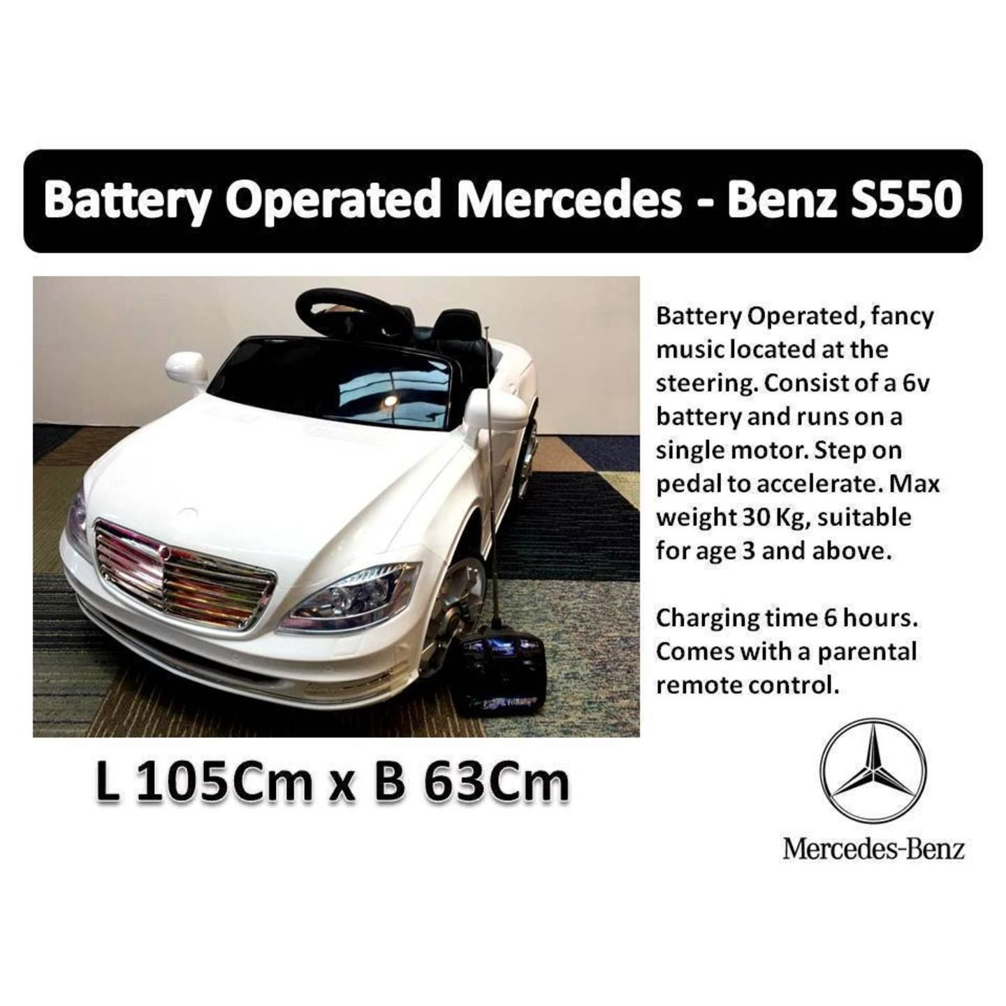 Battery operated benz s550 benz s550 s550 battery operated