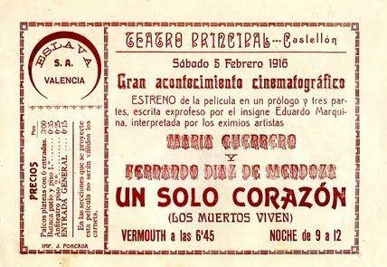 """""""Un solo corazón"""" (1914) Realización: Josep de Togores"""