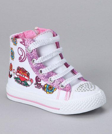 8fa97716b2 White Tattoo Hi--Top Sneakers (kids)