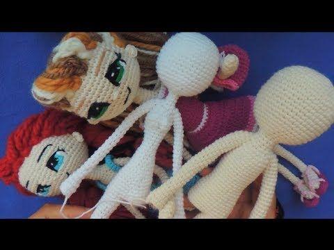 COMO TEJER VESTIDO A TUS MUÑECAS - Ropa Muñeca Articulable A Crochet ...