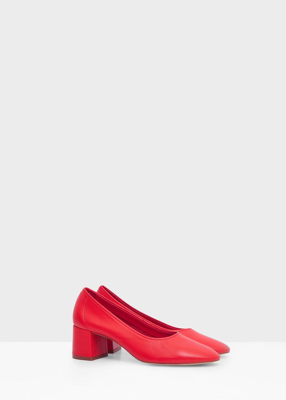 Heel leather shoes -  Woman   MANGO Lithuania
