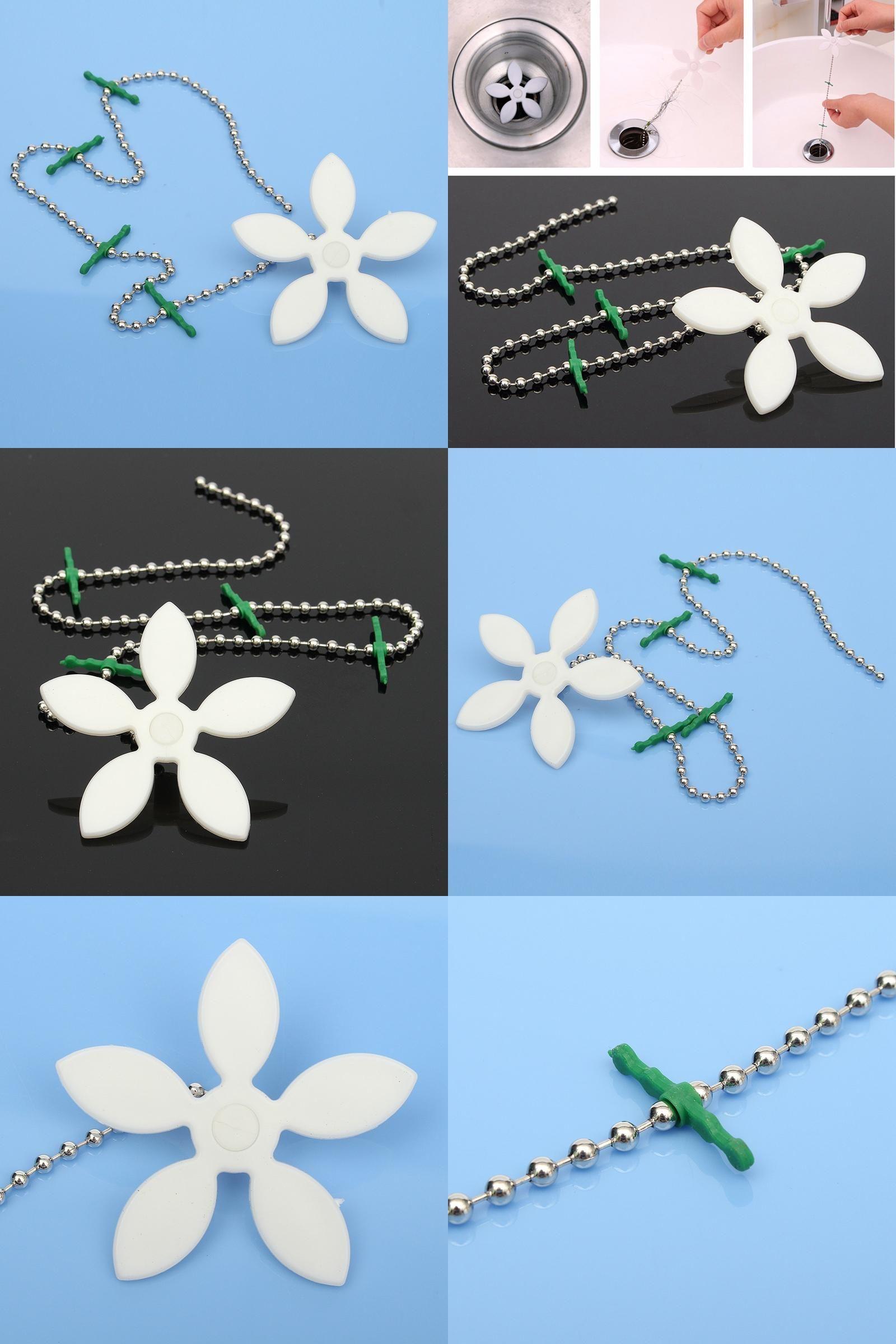 Visit to Buy] Beautiful White Flower Shape Bathtub Drain Cleaner ...