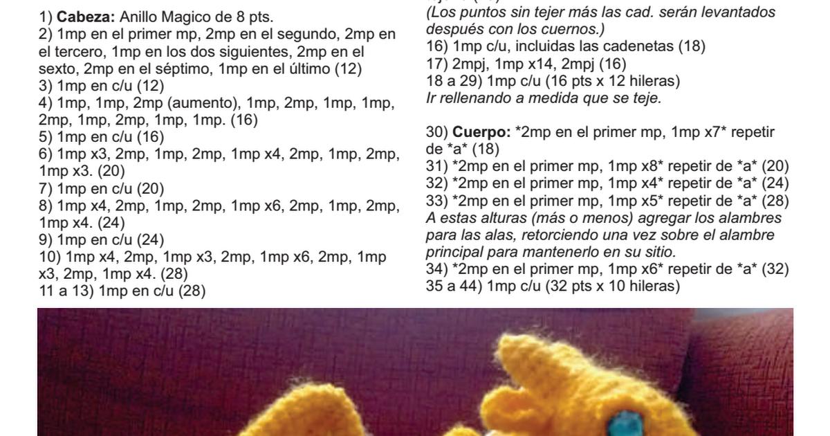 dragon dorado Irka.pdf | amigurumi | Pinterest | Patrones amigurumi ...