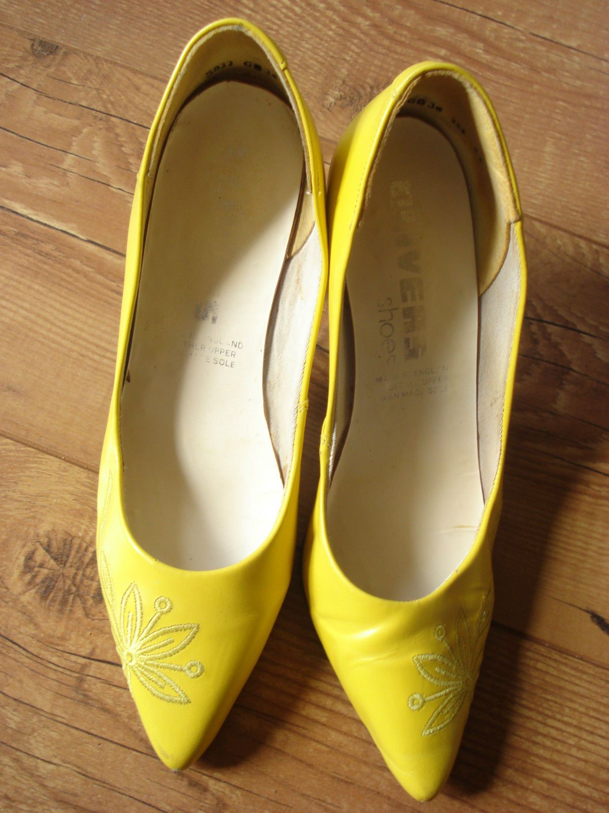 Vintage #1980's #yellow #stiletto heels size 5.5,  View more on the LINK: 	http://www.zeppy.io/product/gb/2/172469717488/