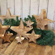 Holz Stern Weihnachtsstern Geflammt Shabby Landhaus Holzstern Christmasstern
