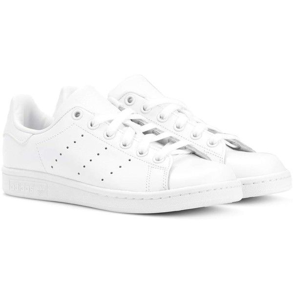 new styles 5f8ff 82cec Adidas Originals Stan Smith Leather Sneakers (€115) ❤ liked on Polyvore  featuring shoes, sneakers, white, white sneakers, adidas originals sneakers,  white ...