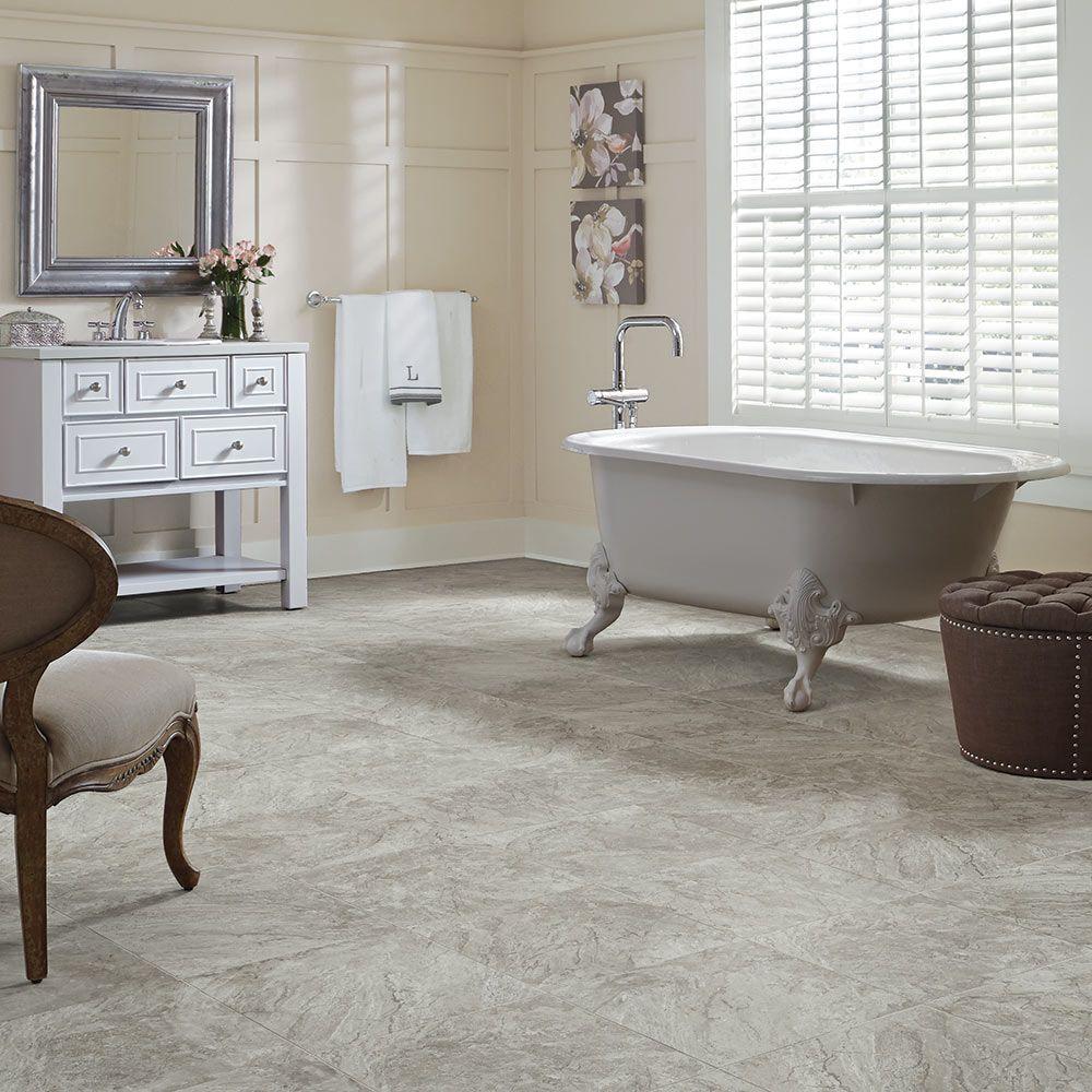 Vinyl floor for bathroom - Adura Century Luxury Vinyl Tile Flooring Mannington Floors Flooring Can Be Purchased At