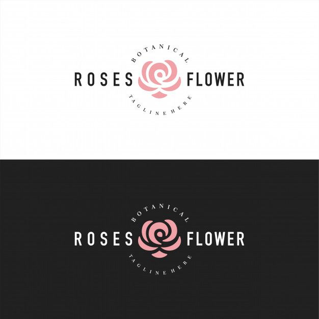 Abstract rose logo or logotype for florist Premium Vector ...