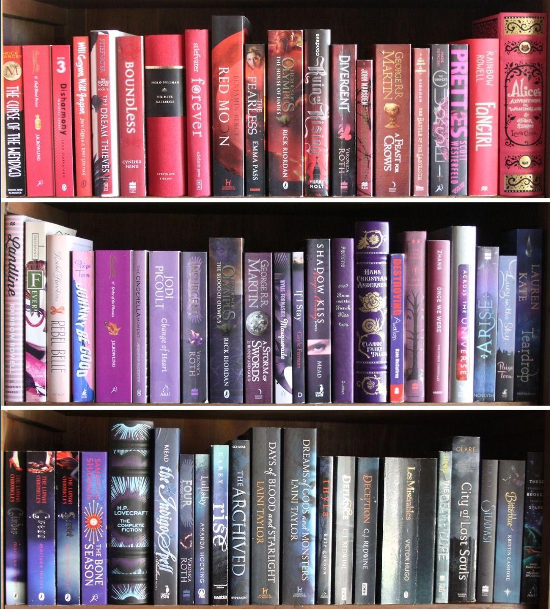 Gradient bookshelf, yes please.
