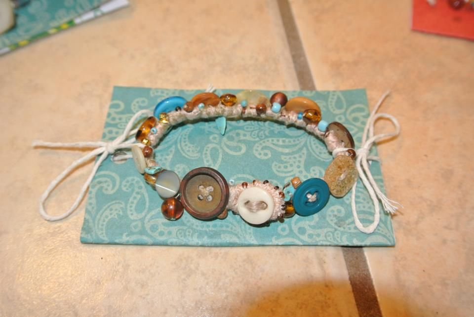 Original one of a kind, Button Bracelets