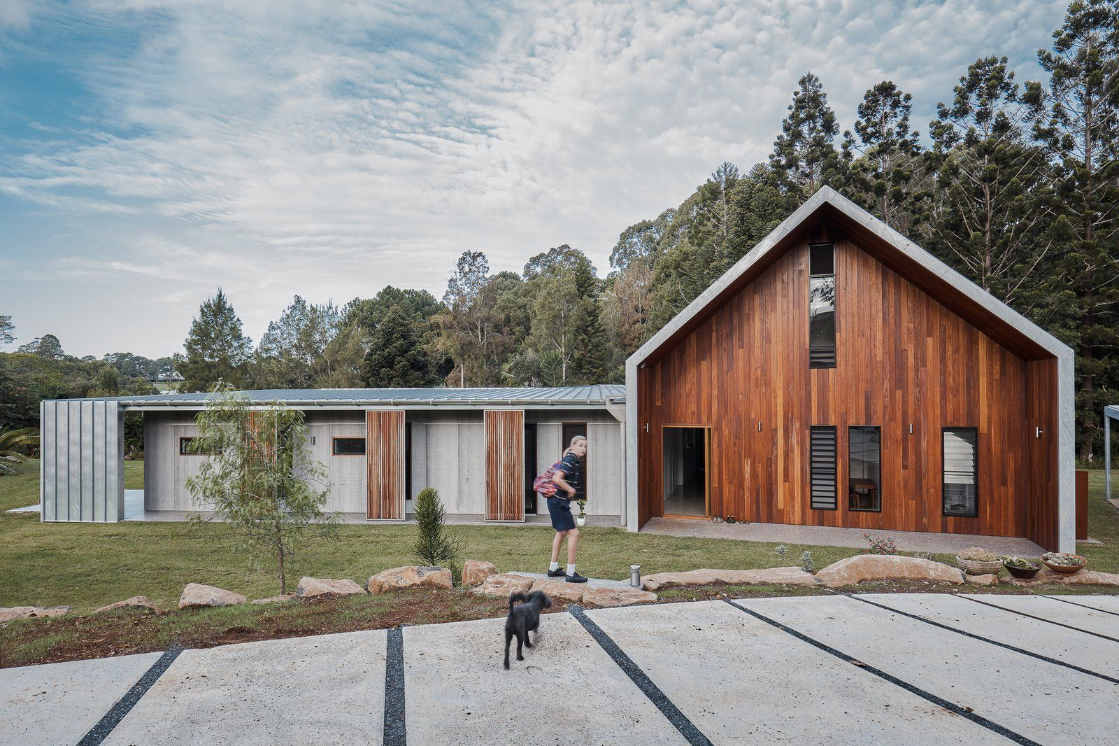Two Barn Like Volumes Make Up This Low Maintenance Australian Home