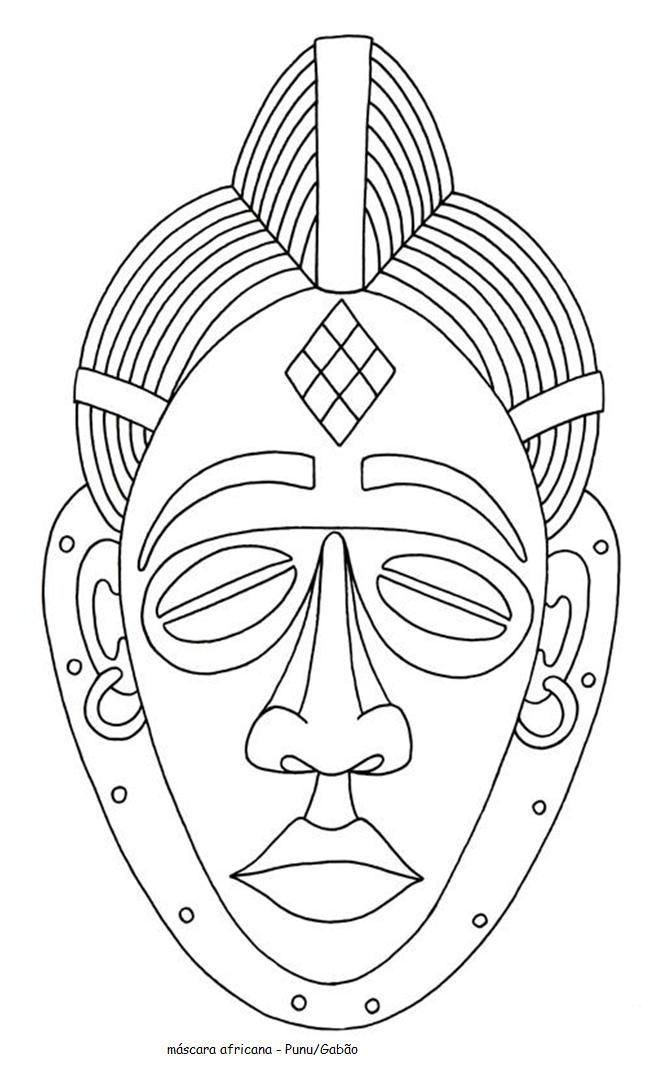 Blog do Professor Eduardo: Máscara Africanas para Pintar | africanas ...