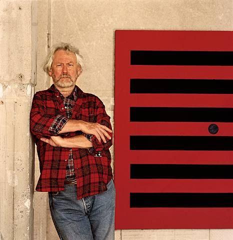 Donald judd with red painting vildi a verki hans seg u for Minimalist art 1960