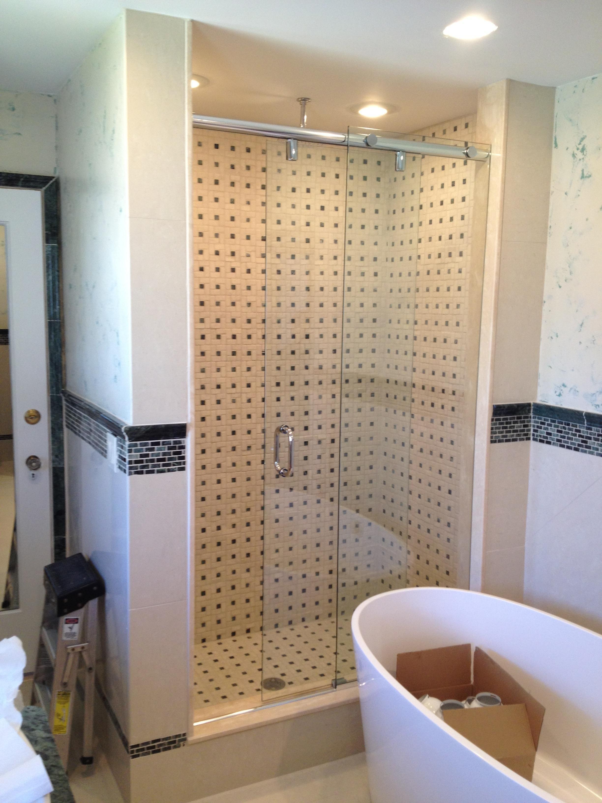 Custom Framless Sliding Shower Dobbs Ferry Ny Westchester