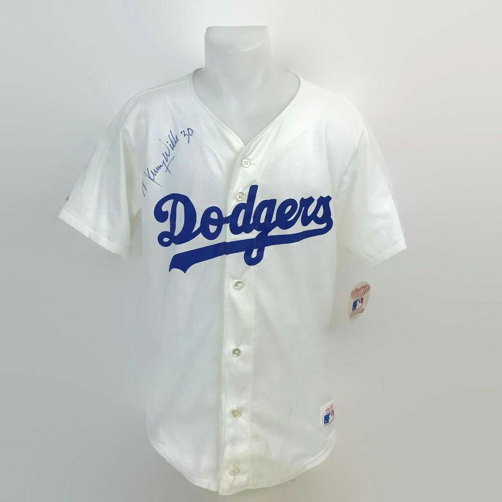Vintage Maury Wills La Los Angeles Dodgers Signed Autographed Jersey Rawlings M Losangelesdodgers Autograph Jersey Maury Wills Los Angeles Dodgers