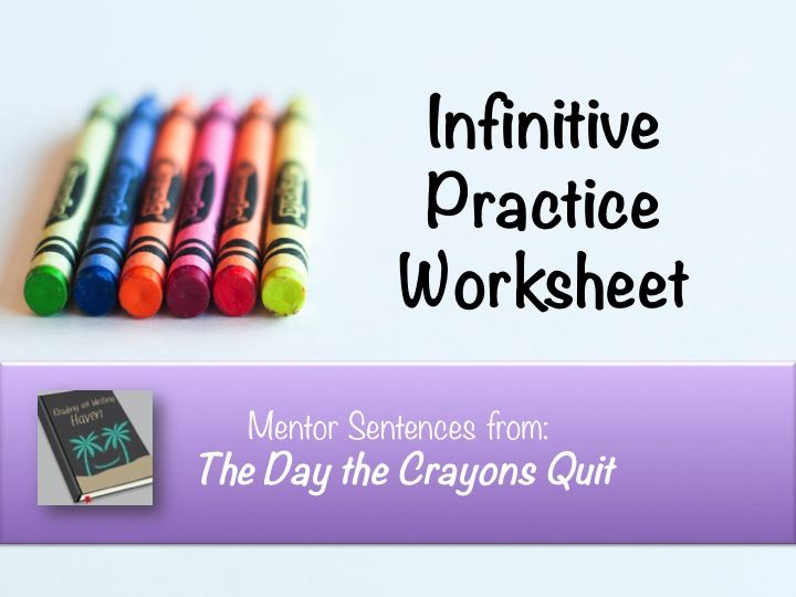 Infinitives and Infinitive Phrases Practice with Mentor