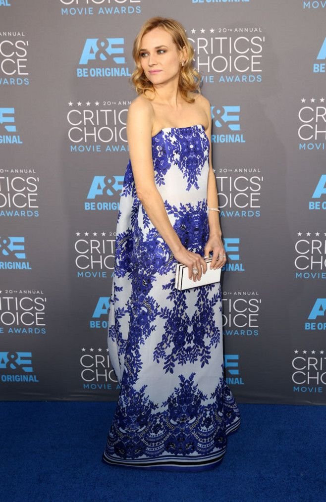 Diane Kruger in Naeem Khan at the Critics Choice Awards 2015