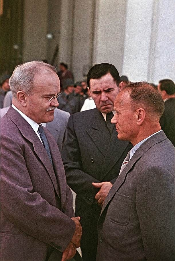 Left to right - Soviet Foreign Minister VM Molotov, Deputy Foreign - invitation issued by the russian foreign ministry