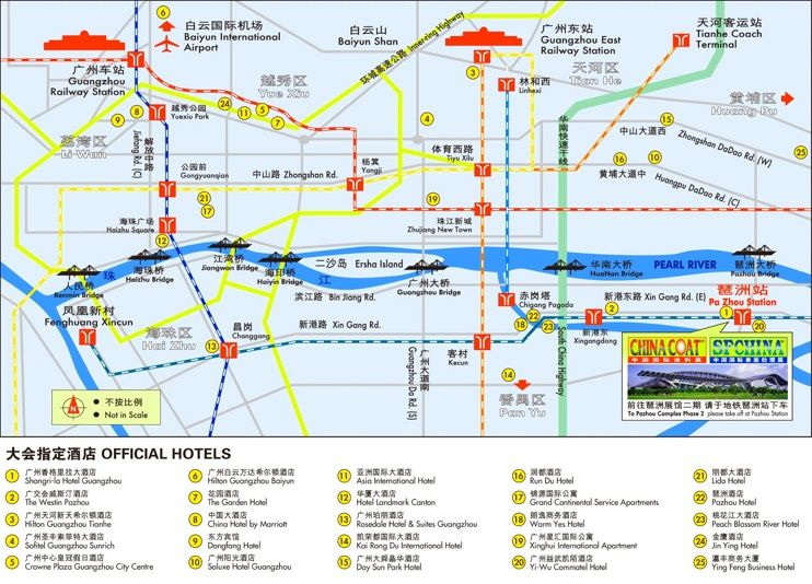 Guangzhou hotel map Maps Pinterest Guangzhou and City