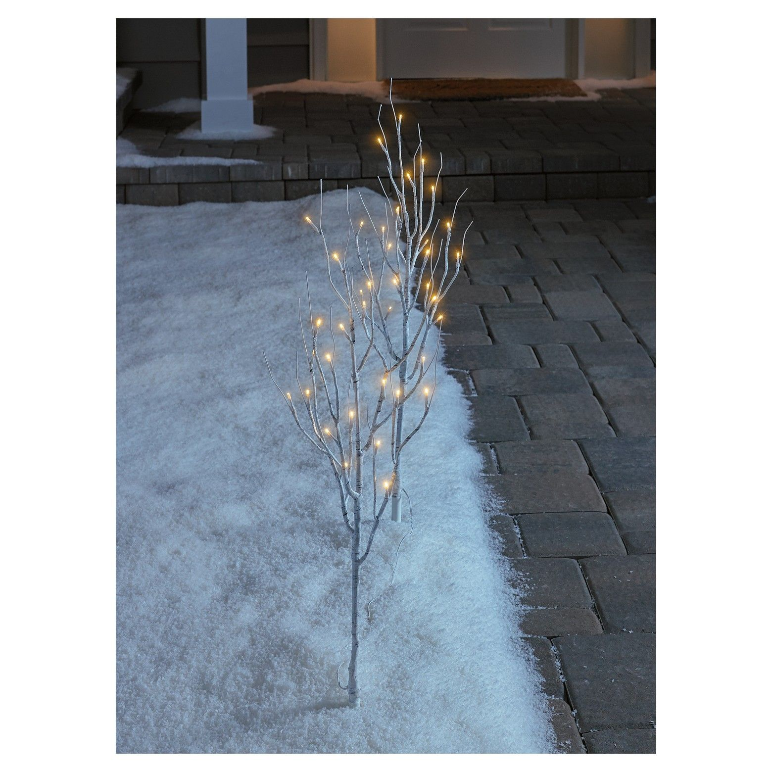 """Philips 30"""" Christmas Battery Operated LED White Birch"""