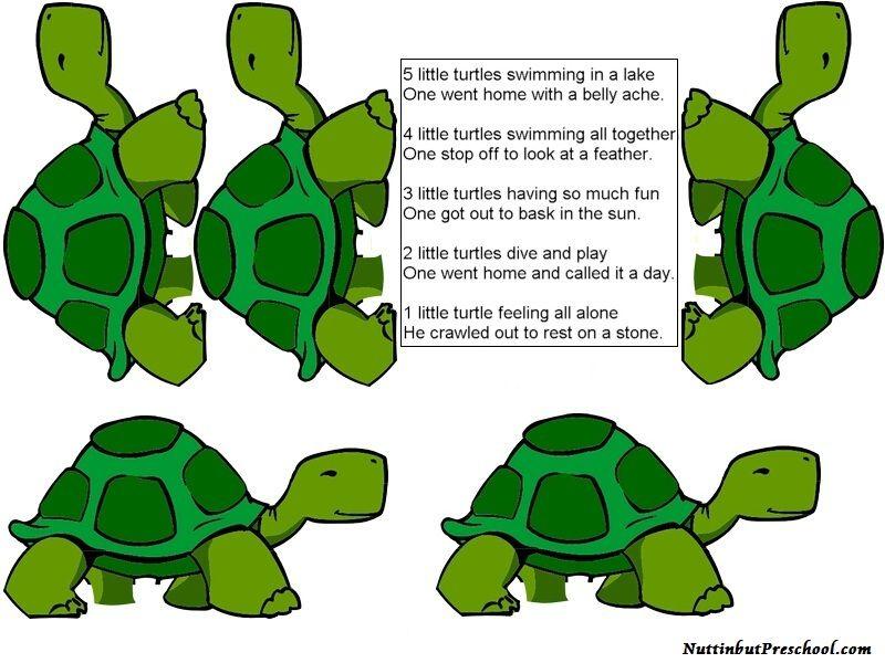 Five Little Turtles Flannel Board | Flannel board stories ...